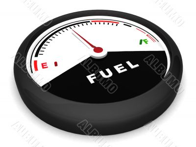 fuel meter in flat position