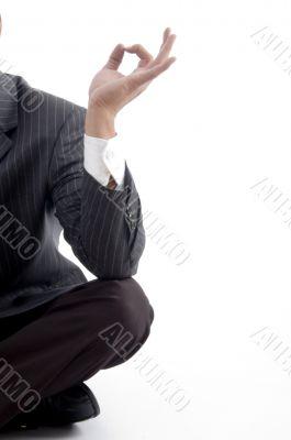 service provider`s fingers on meditation