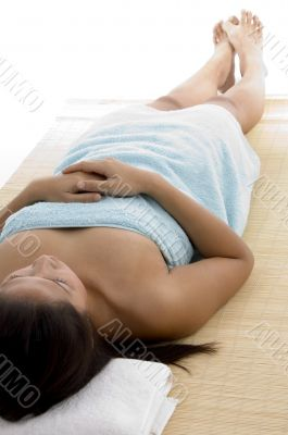 woman going to take massage