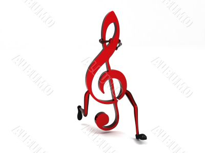 three dimensional one treble clef