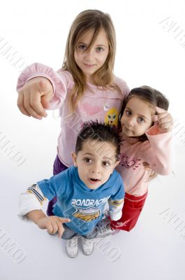 little kids indicating you