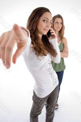 teenager beautiful young girls posing