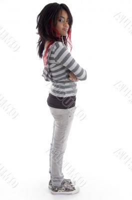 side pose of punk teenager