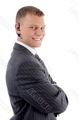 young man communicating friendly