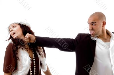 young man punching his partner