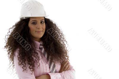 young hispanic female architect