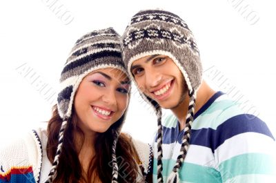 close up view of teens friends smiling
