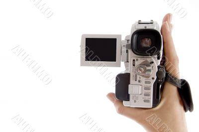 close up view of handy cam