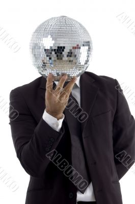 handsome young attorney with disco ball