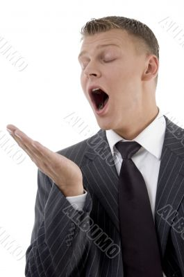 yawning young lawyer
