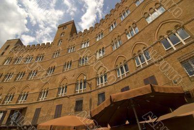 Siena (Tuscany) - Historic building in Piazza del Campo