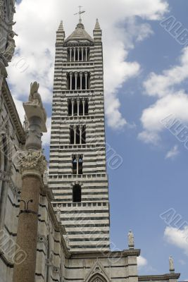 Siena - Belfry of the Cathedral