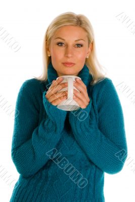 Woman drinking tee