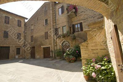 Buonconvento (Siena) - Little typical square