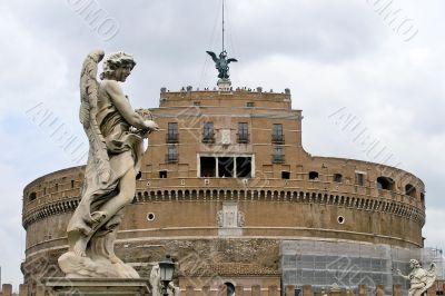 Saint Angel castle in Rome