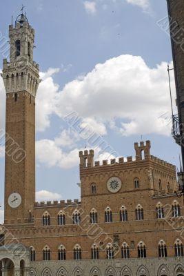 Siena - Historic buildings in Piazza del Campo