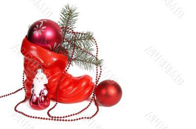 Christmas decoration and santa.