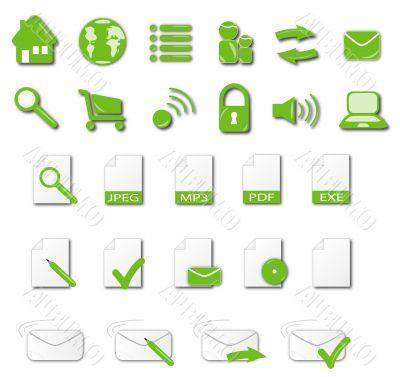 Icon Set green tone