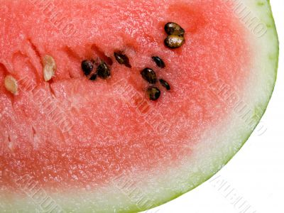 Appetizing slices of watermelon