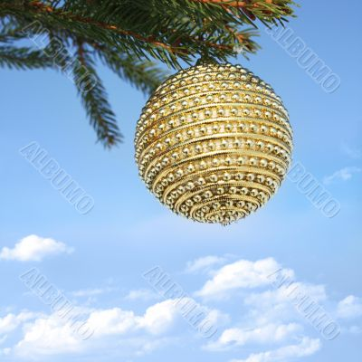 Christmas bauble on christmastree 2