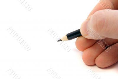 A draftsmans hand