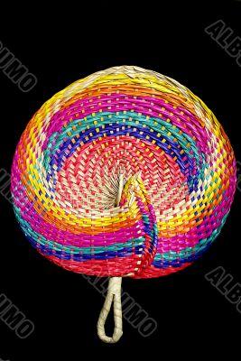 Filipino peacock straw fan