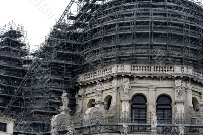 Old church under reconstruction