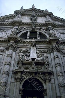 Old italian church in baroque style