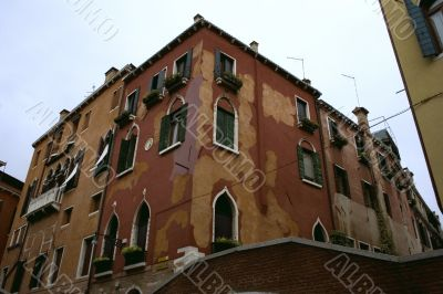 Old medieval house in venice