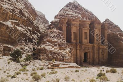 Petra ruins and mountains in Jordan
