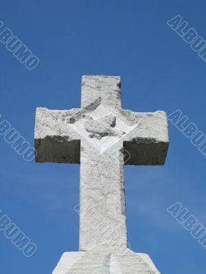 stone cross in a cemetary