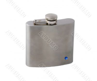 A steel hip-flask