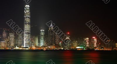 Hong Kong Island night view
