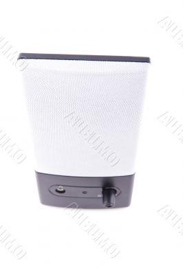 desktop speakers on white