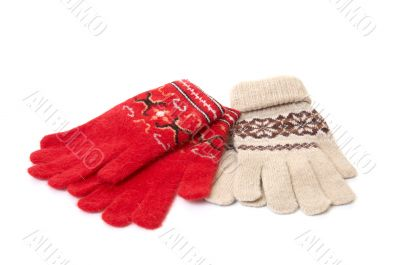 Wonderful  gloves on white.