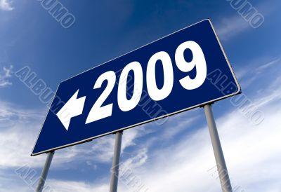 2009 new year road billboard
