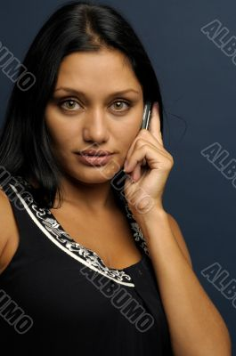 woman is talking to phone
