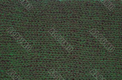 green wool material