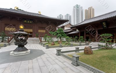 Pavillions in Chinese Garden, Hong Kong