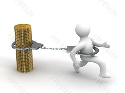 Promissory notes. Financial crisis. Isolated 3D image