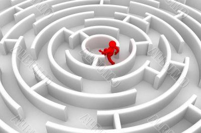 Achievement of the purpose. 3D image