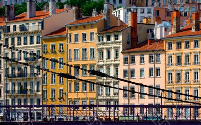 Residential buildings in Lyon, France
