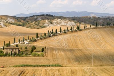 Crete senesi, characteristic landscape in Val d`Orcia