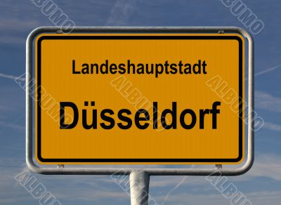 General city entry sign of Düsseldorf