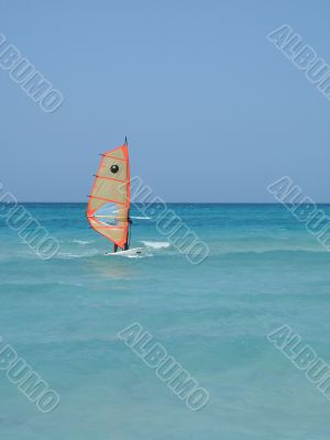 sailing on the tropical ocean
