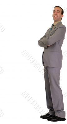 Businessman Leaning