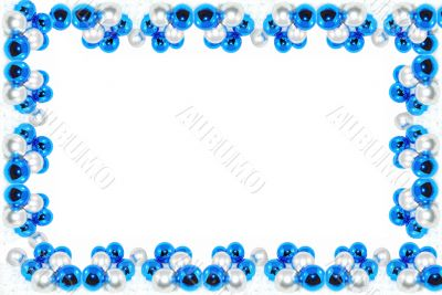 Blue and Metallic Chistmas frame