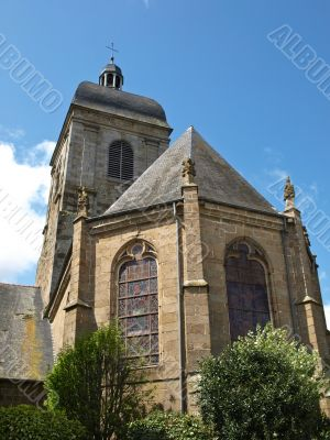 Medieval church in french province