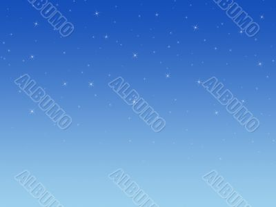 Background with shining stars.