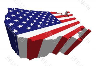 flag and map usa